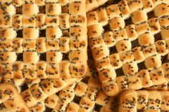 Close-up of cookies with poppy-seed Stock Photography