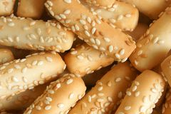 Close-up of cookies with sesame Royalty Free Stock Images