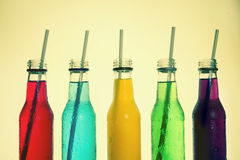 Close up cool colorful drink Stock Images