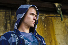 Close-up of a cool guy. Close-up of a Cool Urban boy looking away Royalty Free Stock Image