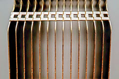 Close up cooling fins Royalty Free Stock Image