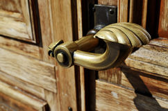 Close-up of a copper doorknob Stock Image
