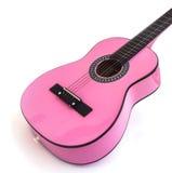 Close up cor-de-rosa da guitarra isolado no branco Imagens de Stock Royalty Free