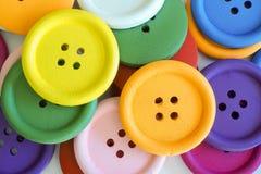 Close up corajoso das cores dos botões Foto de Stock Royalty Free