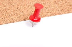 close up Cork board with blank notes Royalty Free Stock Photo