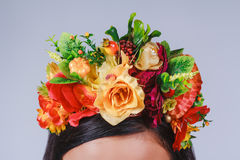 Close up coronet of flowers in autumn style Stock Images