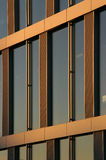 Close-up of a corporate building window. In the sunset light (Lausanne, EPFL Stock Images