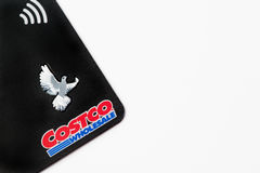 Close up of a Costco membership card, illustrative editorial. On white background Royalty Free Stock Images