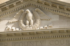 Close up of County Courthouse Royalty Free Stock Image