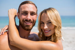 Close up of couple with arm around Royalty Free Stock Images