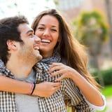 Close up of couple having fun outdoors Stock Image