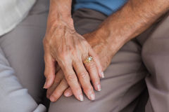 Close up of couple holding hands Royalty Free Stock Photos