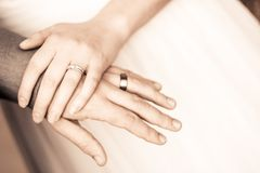Close-up of Couple Holding Hands Royalty Free Stock Image