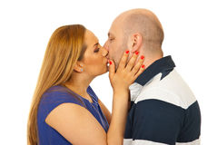 Close up of couple kissing Stock Photography