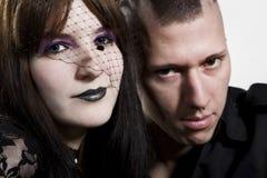 Close-up of a couple punk Stock Photo