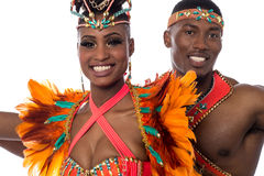 Close up of couple samba dancer Royalty Free Stock Photo