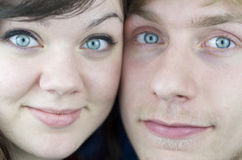 Close-Up Of Couples Faces Royalty Free Stock Images