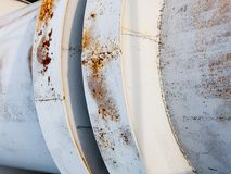 Close up of the coupling of the metal pipeline Royalty Free Stock Images