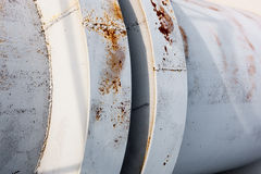 Close up of the coupling of the metal pipeline Royalty Free Stock Photography