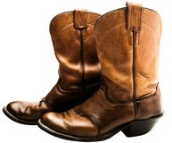 Close-up of cowboy boots Stock Images