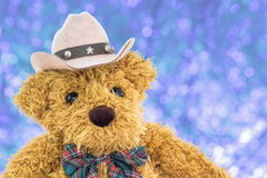 Close up cowboy teddy bear Stock Photo