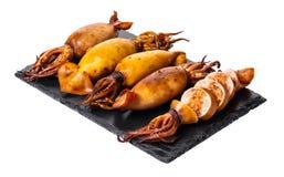 Close-up cozinhado do calamar foto de stock royalty free