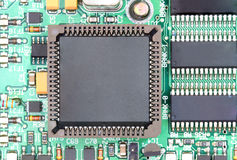 Close up of CPU chip with circuit board Stock Photo