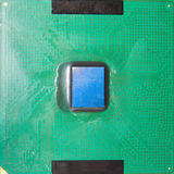 Close-up on a CPU microchip Stock Photography