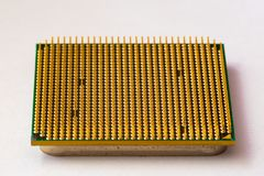 Close up of CPU Processor over Computer Motherboard. Tecnology background. Close up of CPU Processor over Computer Motherboard. Tecnology Royalty Free Stock Images