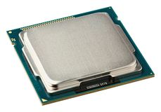 Close up CPU upside Stock Image