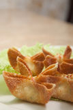 Close up crab rangoons Stock Photo