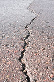Close-up of crack on the road Stock Images