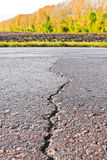 Close-up of crack on the road Stock Photography