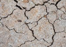 Close up crack soil texture  background. Close up dryness crack soil texture background Royalty Free Stock Photography