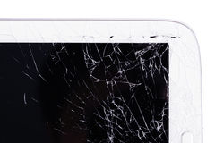 Close up crack table device. Cause by fall on the floor stock photos