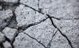 Close up of the cracked concrete surface Stock Photography