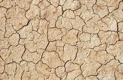 Close up of cracked ground Stock Images