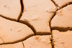 Close-up cracked soil ground, drought land so long waterless Royalty Free Stock Photography