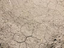 Close-up of cracked soil ground in the dry season royalty free stock photos