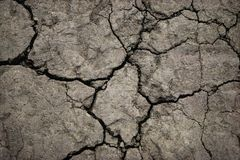 Close-up of cracked soil ground in the dry season stock photo