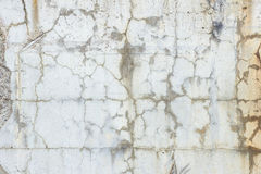 Close-up of a cracked and weathered concrete wall Stock Photography