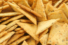 Close-up of crackers pile Stock Image