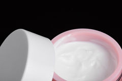 Close up of cream in container Royalty Free Stock Photos