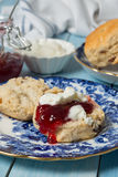 Close Up Cream Scone Stock Photography