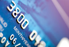 Close-up a credit card Royalty Free Stock Photography