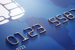 Close-up credit card (3d render) Stock Images