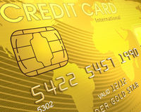 Close up of a Credit Card royalty free illustration