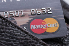 Close up of credit cards , master card Royalty Free Stock Image