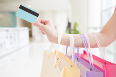 Close up of credit cards Stock Photography