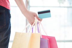 Close up of credit cards Royalty Free Stock Images